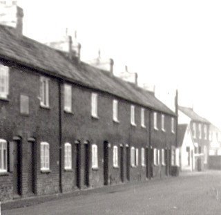 Butcher's Row, formerly Jackson's Row, Bottesford High St. looking westwards. | From the collection of the late Mrs Dorothy Beedham