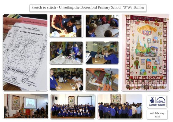 Bottesford Primary School 1st World War Banner - 11/2/2016 | Heritage Lottery Fund supported