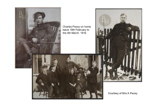 Charles Pacey on leave at his home in Easthorpe with his family in February 1916 | From the collection of Mrs A. Pacey