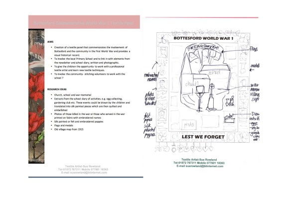 Bottesford Primary School Commemorative Banner Design Brief | Sue Rowland Textile Artist