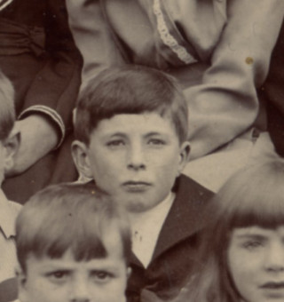 George Ernest Challands, aged 8, in a Muston School photograph taken in 1902 | From the collection of Mr Alan Hodgkinson