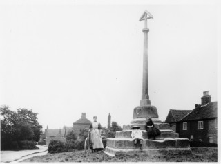 Muston Cross, the old market cross (restored) on The Green, Woolsthorpe Lane | From the collection of Mrs Margaret Langton