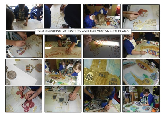 Making the Bottesford Primary School WW1 Commemorative Banner