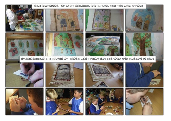 Making the Bottesford Primary School WW1 Commemorative Banner: September - November 2015