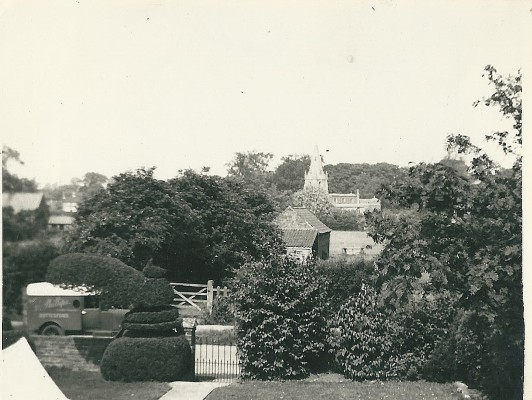 View from Peacock Farm looking towards the church   From the collection of Richard Donger