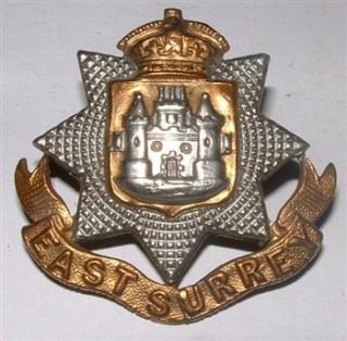 Cap badge of the East Surrey Regiment. | War Service Records