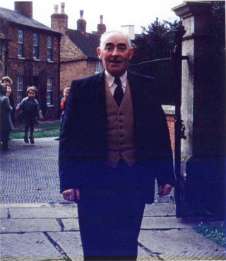 Major Walter Cox, pictured by Fleming's Bridge, Bottesford, c.1950.   Private collection of Mrs Ada Bond
