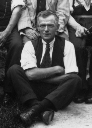 Harry Tinkler, one of the Bottesford British Legion skittles team, 1930s.   From the private collection of Mrs Anne Hewitt.
