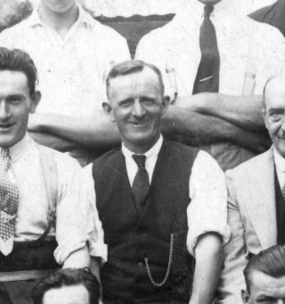 Fred Wilcockson, seen as a member of the Bottesford British Legion bowls team c.1930 | From the collection of Mrs A Hewitt