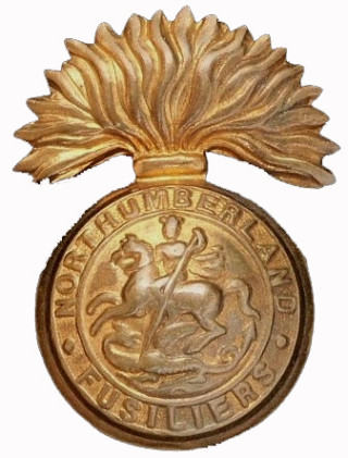 Cap badge WW1 of the Northumberland Fusiliers