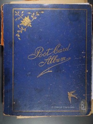 Front cover of Florrie Harby's postcard album | Glenys Claricoats
