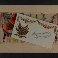 Card insert for silk postcard envelope | Glenys Claricoats