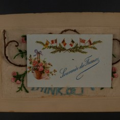 Silk postcard with greeting card | Glenys Claricoats
