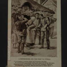 24 March 1915 (Front) A REFRESHER - ON THE WAY TO YPRES Up to mighty London came an Irishman one day, As the streets are paved with gold, sure ev'ryone was gay, Singing songs of Piccadilly, Strand and Leicester Square, Till Paddy got excited, then he shouted to them there:-