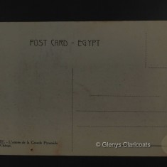 1915 / 1916 Reverse of postcard of man on camel | (Glenys Claricoats)