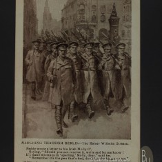 28 March 1915 (Front) MARCHING THROUGH BERLIN - The Kaiser Wilhelm Strasse Paddy wrote a letter to his Irish Molly O', Saying
