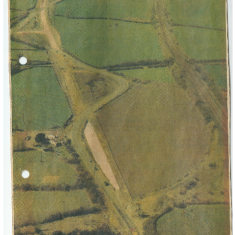Aerial photograph showing the straightening of the A52 at Muston. | From the Donger family collection.