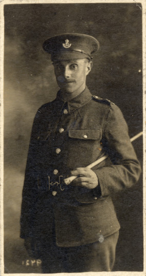 Enlistment photograph of Private Philip Sutton, March 1916. | From a private collection