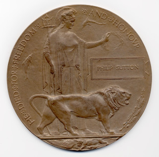 The Memorial Plaque honouring Private Philip Sutton | Private collection