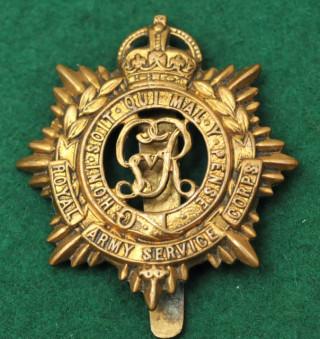 Army Service Corps cap badge, WW1