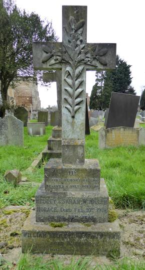 Miller family headstone, Bottesford. | Photo Neil Fortey 2016