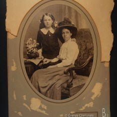 Florrie Harby with her grandmother Mary Harby | (Glenys Claricoats collection)
