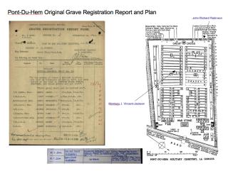 Original Pont-du-Hem Military Cemetery Grave Report & Plan | CWGC