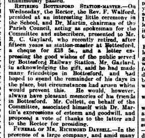 Grantham Journal 4th June 1921 - Retirement presentation to Richard Charles Gaylard | British Newspaper Archive
