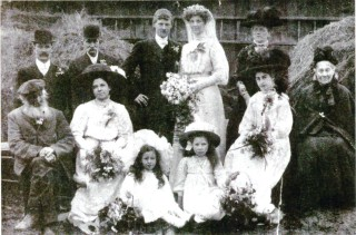 Ernest and Sarah Jones at their wedding | From the collection of Sue Wadsworth