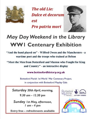 May Weekend 1st World War Centenary Events