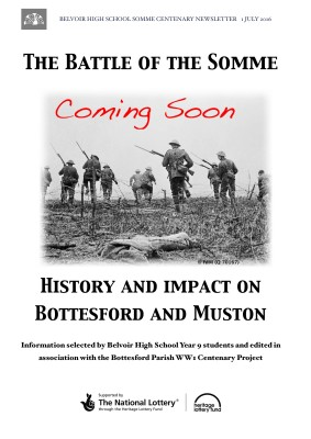 Belvoir High School Somme Centenary Newsletter - 1st July 2016 | BCHP