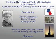 Remembering Private Cyril Barrand