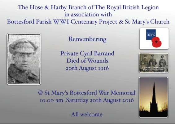 Remembering Private Cyril Barrand | BCHG