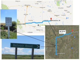 Historic site of the one room Belvoir School in Saskatchewan closeby to Frank Riathby's homestead | Google Map
