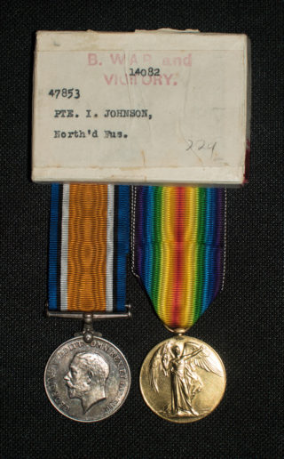 Pte. Isaac Johnson's medals | Courtesy of Mr. Paul Dujon