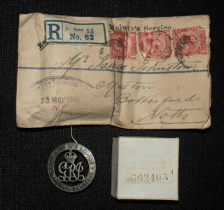 Pte. Isaac Johnson's Silver War Badge | Courtesy of Mr. Paul Dujon