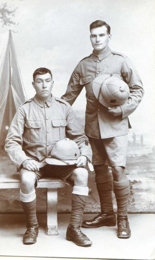 Pte. Daniel Johnson (standing). | Courtesy of Mr. Paul Dujon