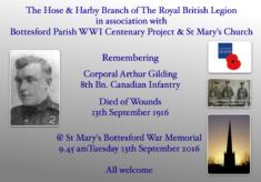 Remembering Corporal Arthur Gilding