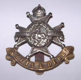 Notts & Derby Regiment (Sherwood Foresters) Cap Badge.