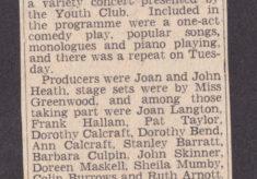 'Variety Show at Bottesford' press article