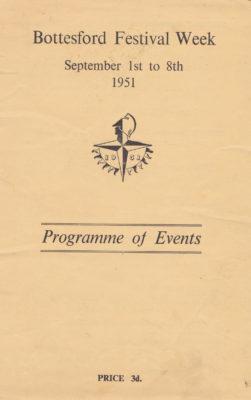 Bottesford Festival, 1951, programme cover   Barbara Cain