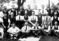 The Bottesford and Easthorpe skittles team, c.1930.