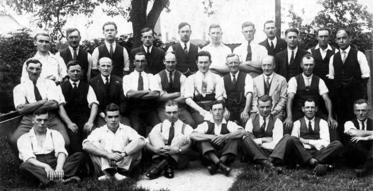 'Bottesford and Easthorpe Skittles Team', c.1930 | From the collection of Mrs Anne Hewitt