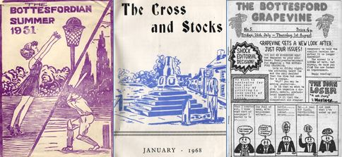 Items from the archive: The Bottesfordian, magazine of Bottesford village school,1951; The Village Voice parish magazine, 1968; a schoolboy's magazine, 1970s | Bottesford Heritage Archive