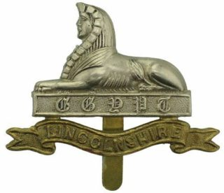 Lincolnshire Regiment cap badge WW1