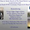 Remembering Private Edgar Hugh Holmes
