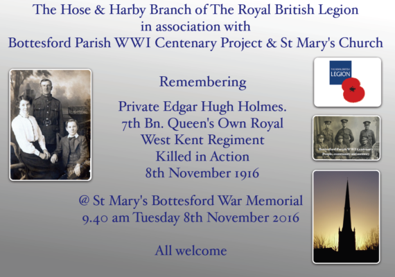 Remembering Private Edgar Hugh Holmes | BCHG