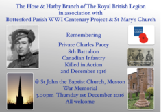 Remembering Private Charles Pacey