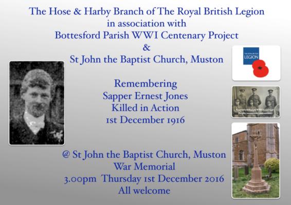 Remembering Sapper Ernest Jones | BCHG