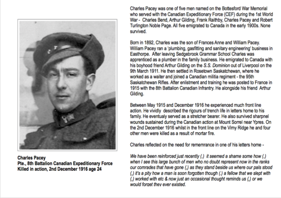 Remembering Private Charles Pacey | BCHG